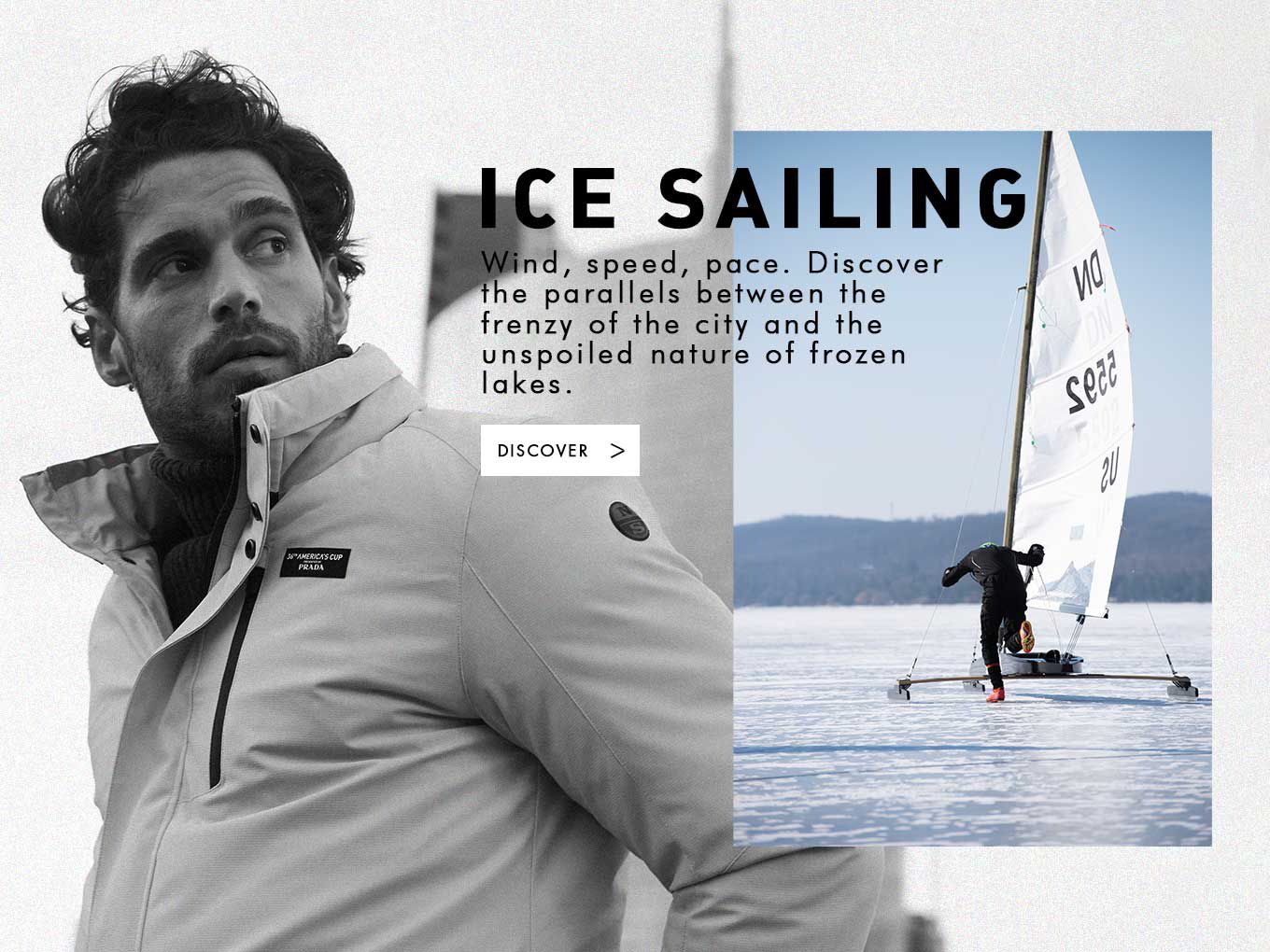Ice Sailing Man
