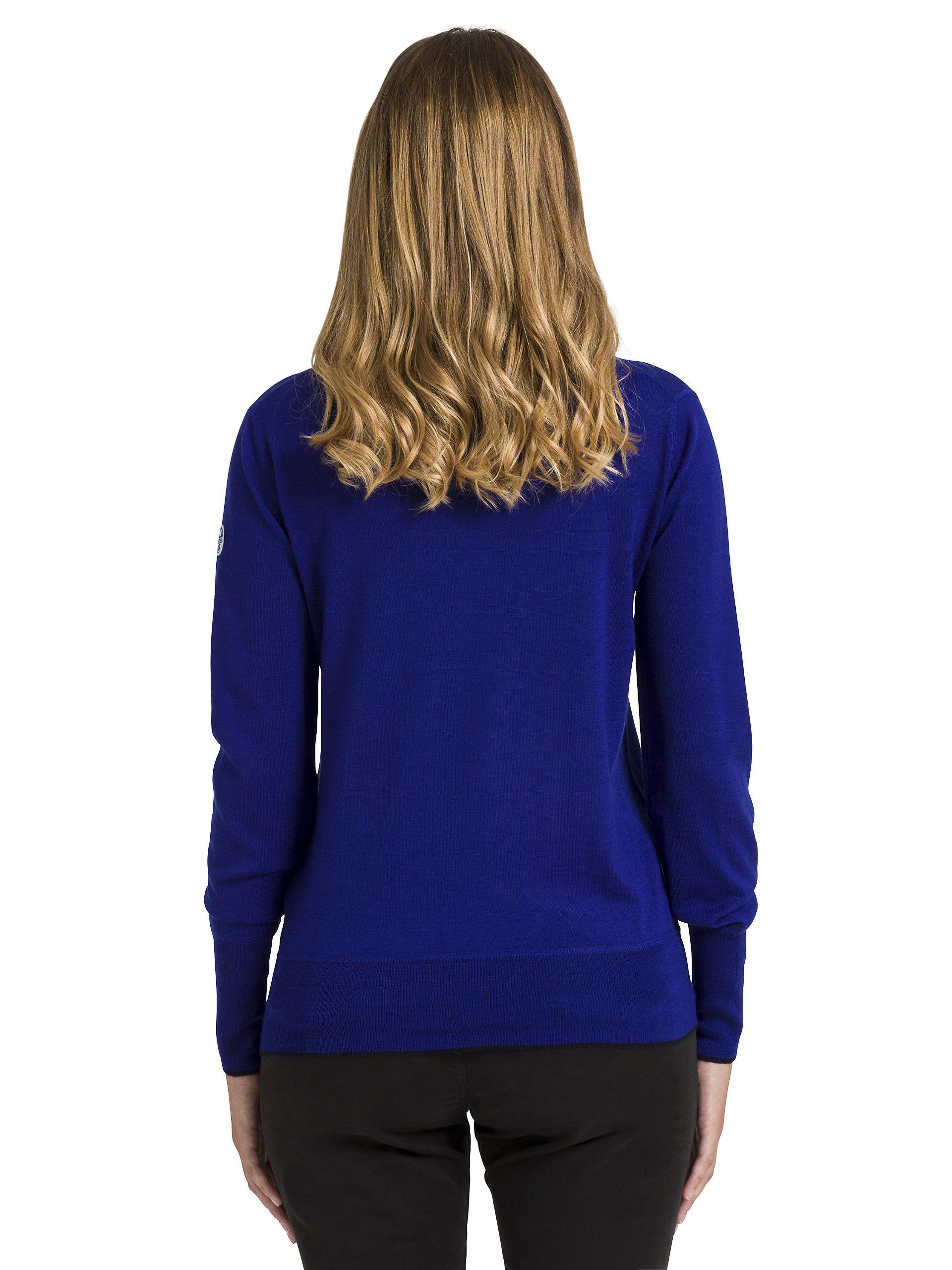 North Sails Pullover Pullover Pullover V-Collo Sweater Realizzato In Lana Merino Delle Donne 670056