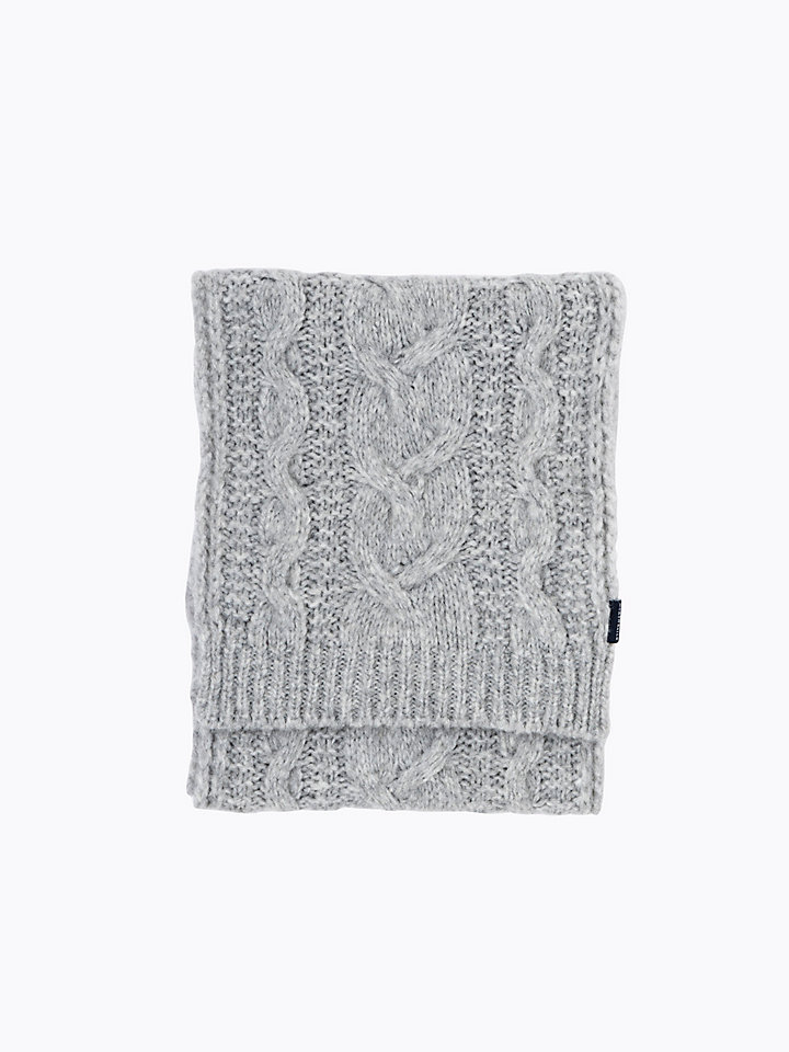 Cable-Knit Wool Scarf
