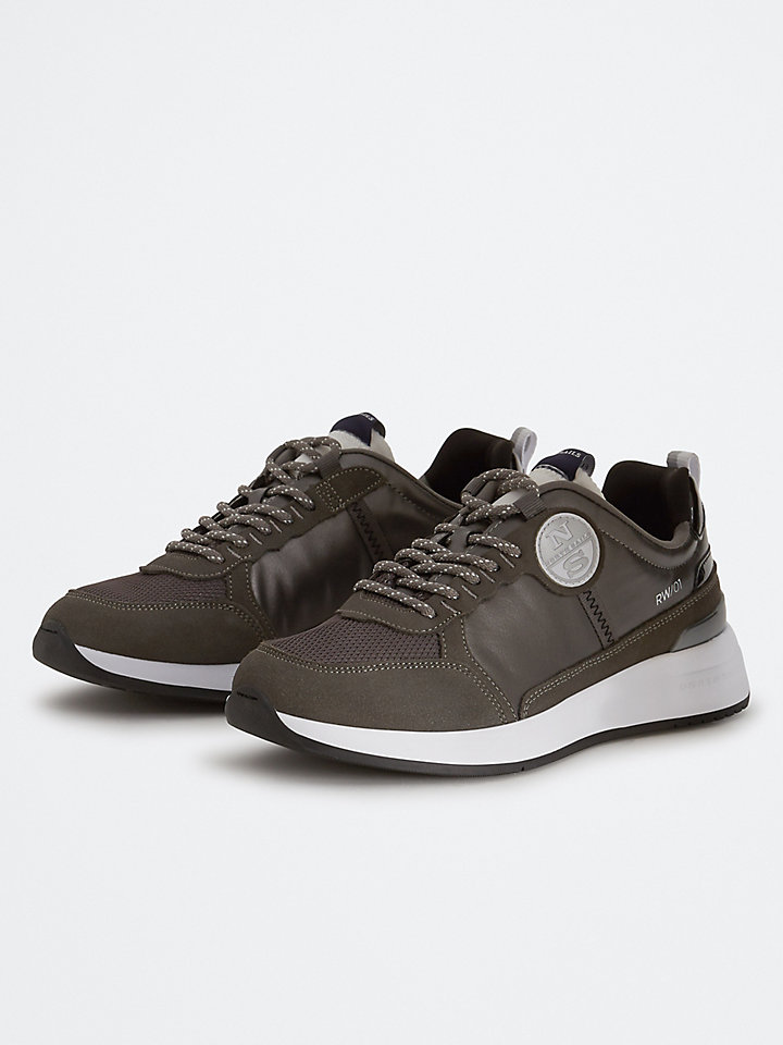 Suede And Microfiber Sneakers