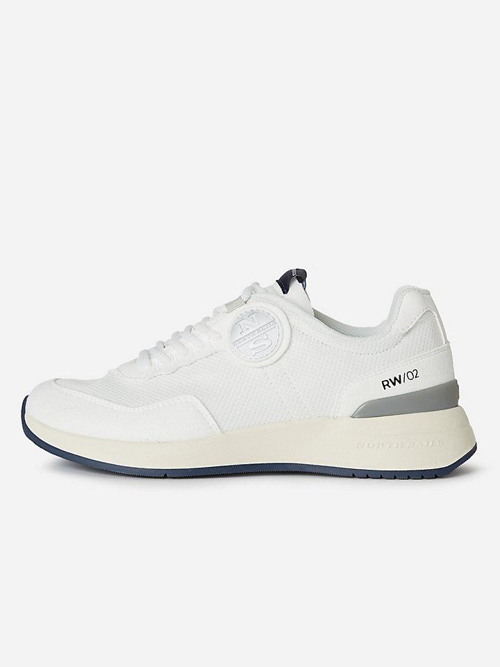 Sneaker in rete e microfibra