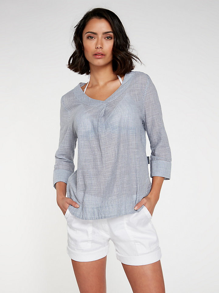 Shirt V Neck  3/4 Sleeve