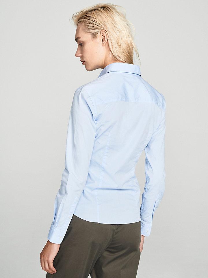 Camicia In Popeline Stretch