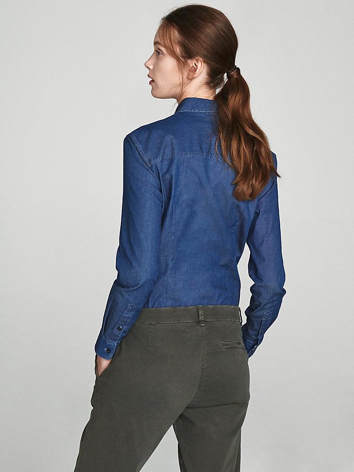 Stretch Denim Shirt