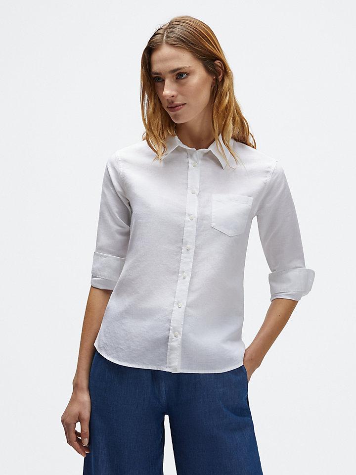 Camicia in lino e cotone