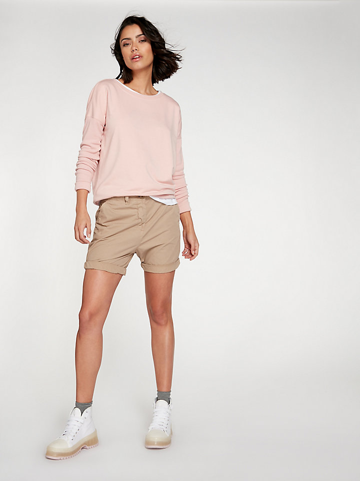 Garment-Dyed Chino Short
