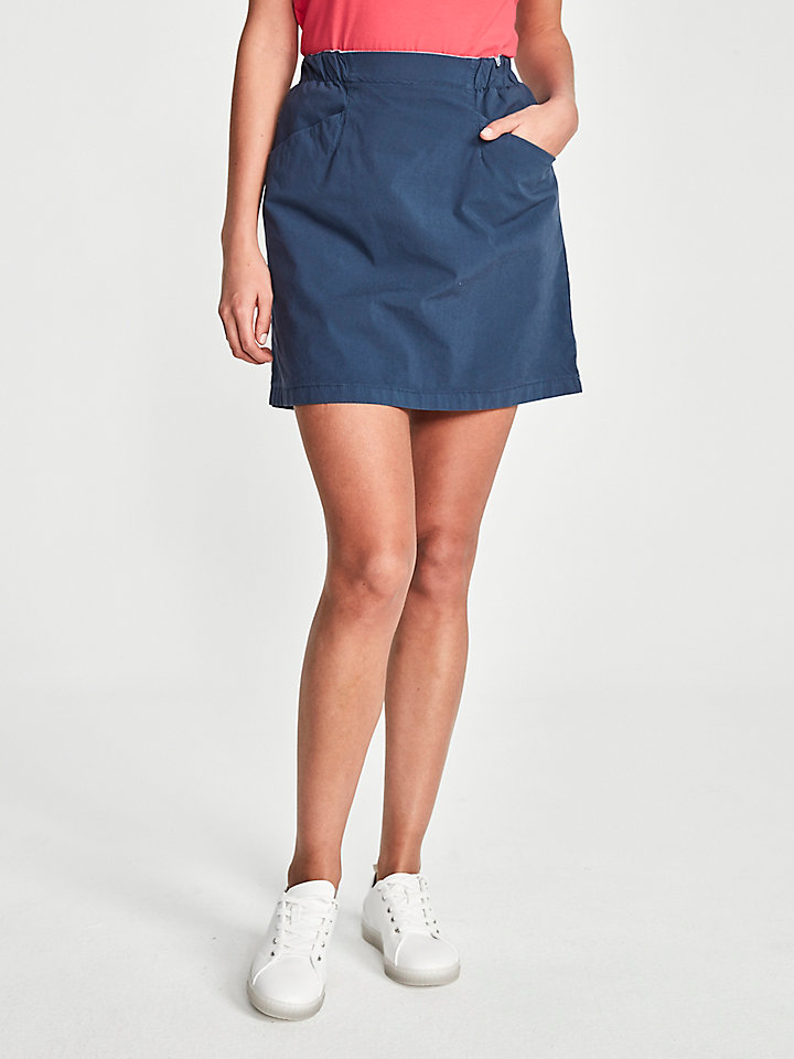 Cotton Poplin Miniskirt
