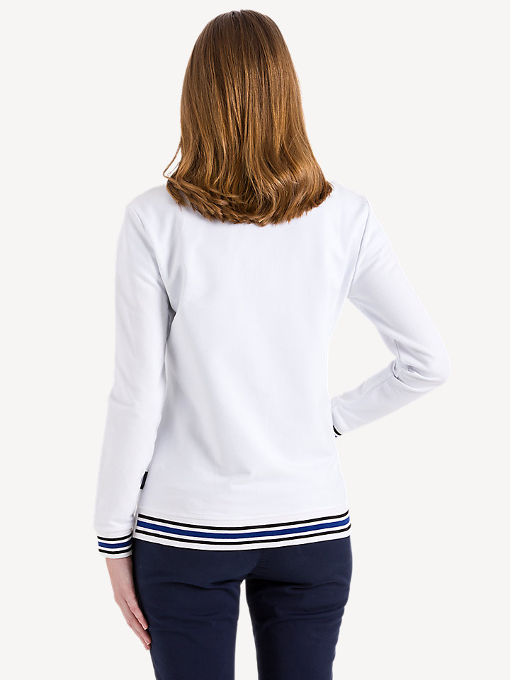 Printed Stretch Fleece Zip Sweater