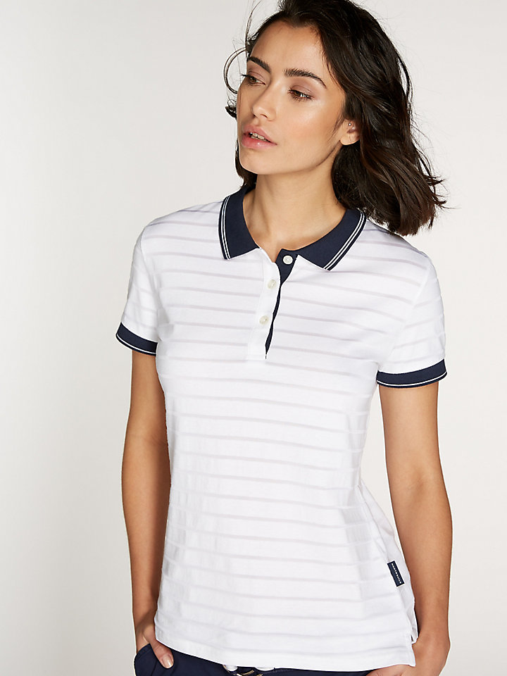Striped Devore Polo