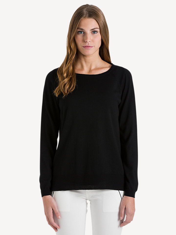 Round neck 14GG long sleeve