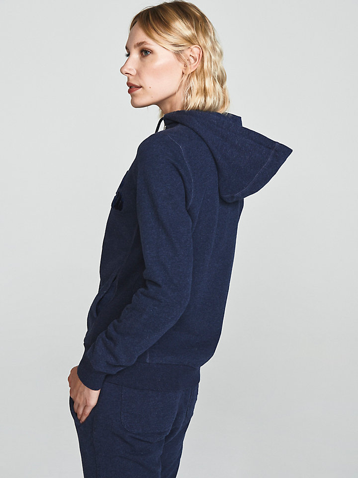 Mélange Zip-Up Hoodie