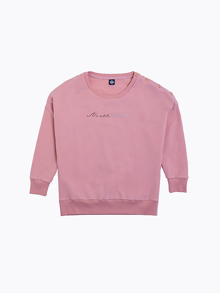 Button Detail Sweatshirt