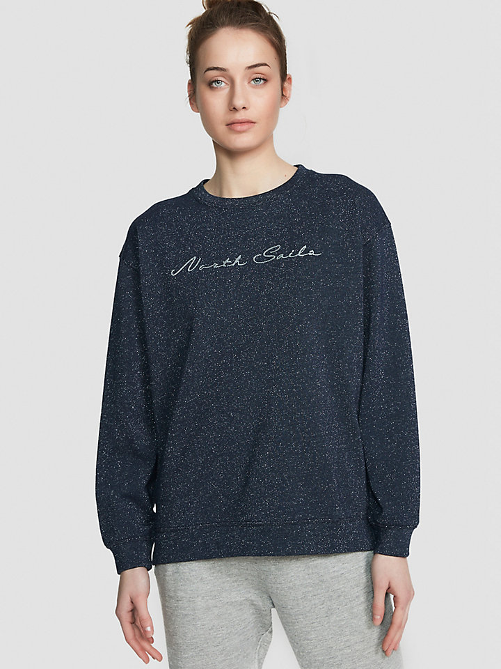 Lurex And Jersey Sweatshirt