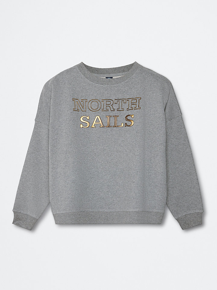 Sweatshirt In Brushed Cotton Fleece