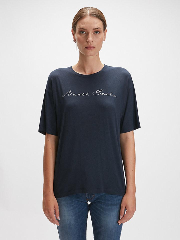 T-Shirt In Misto Seta