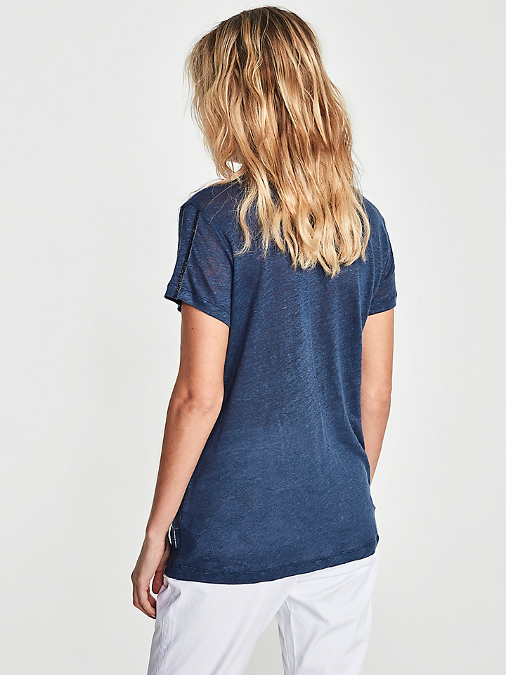 T-Shirt In Lino E Lurex
