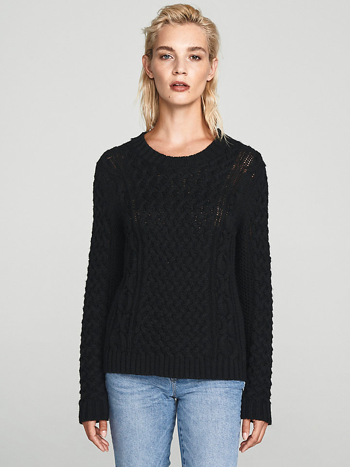 Cable-Knit Wool Jumper