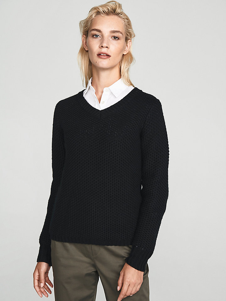 V Neck Wool Jumper