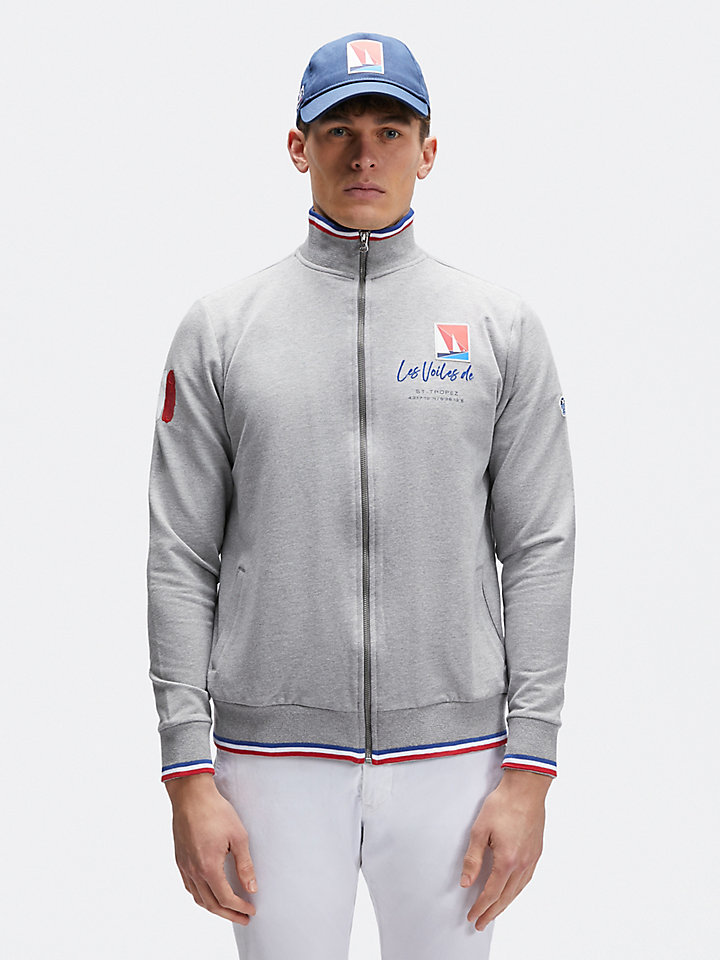 Stretch cotton sweatshirt
