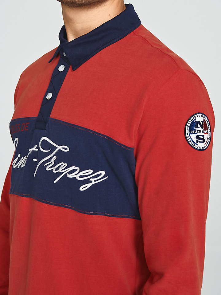 Saint-Tropez Brushed Jersey Polo Shirt
