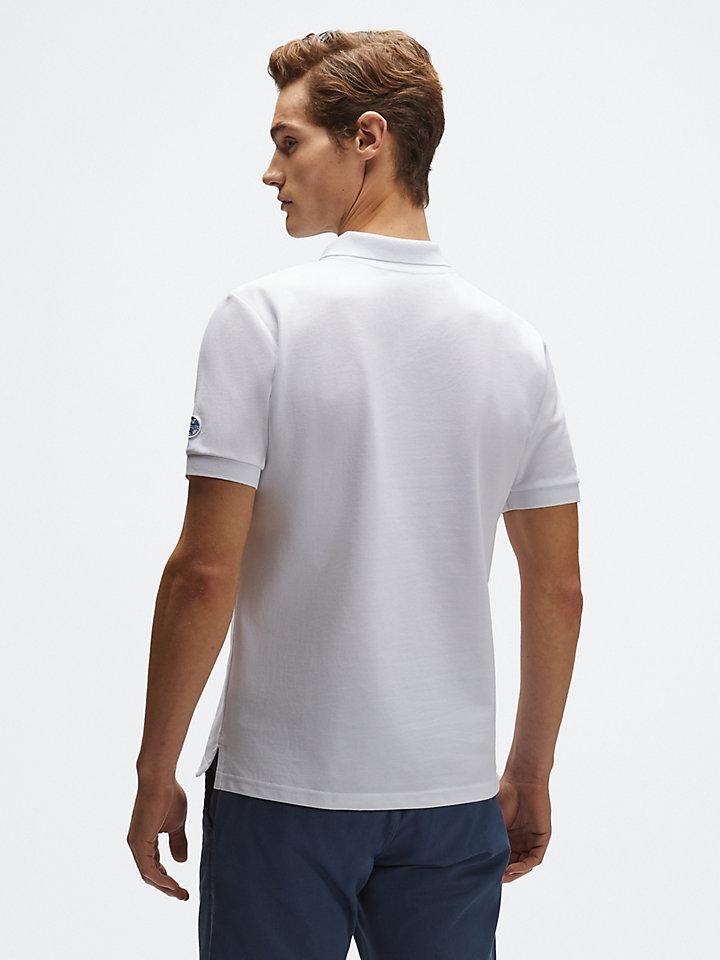 Organic piqué polo shirt