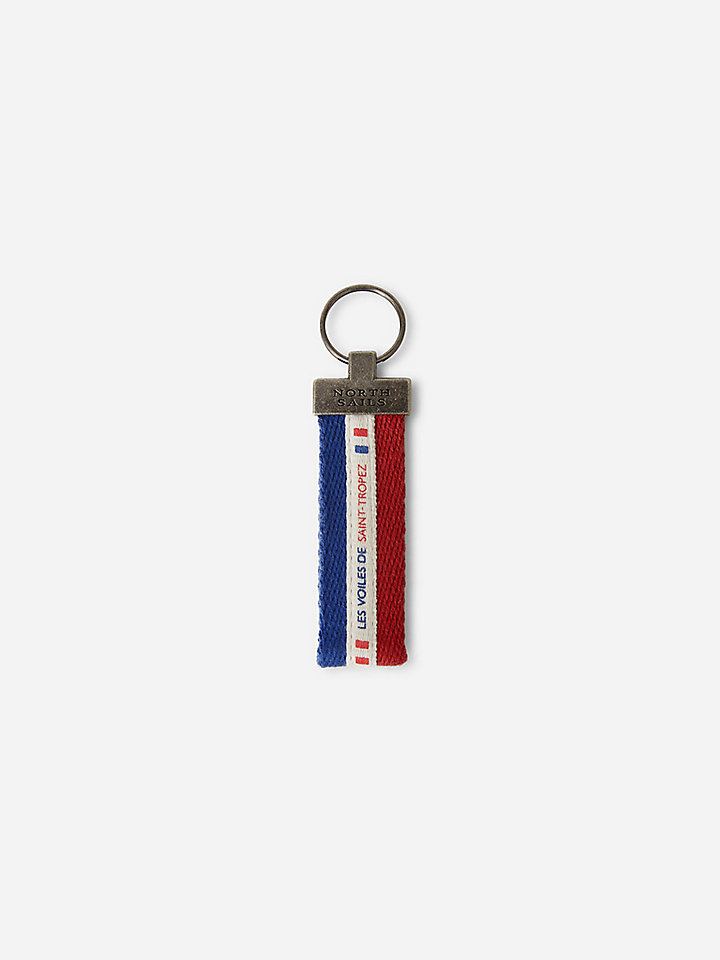 Recycled tape keyring