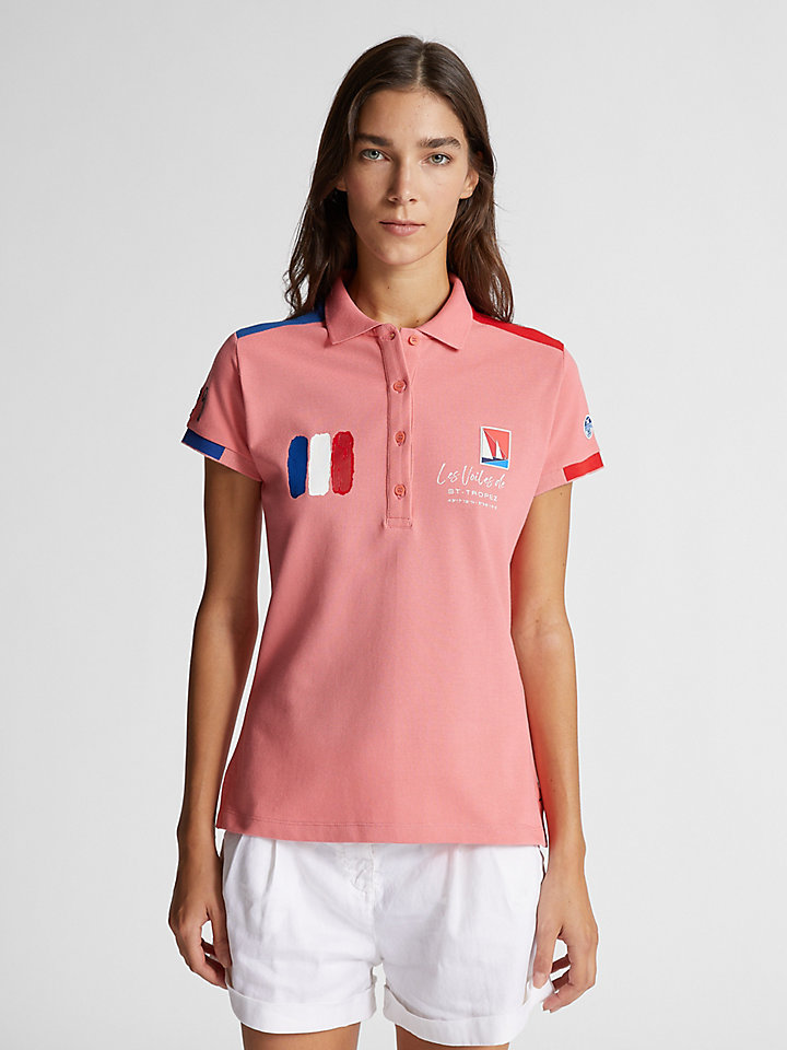 Technical fabric polo shirt