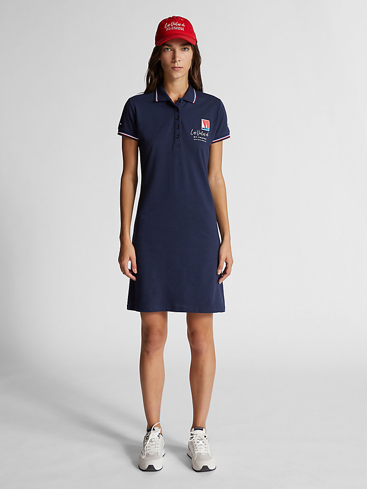 Cotton piqué dress