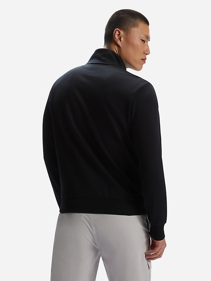 Stretch fleece cardigan