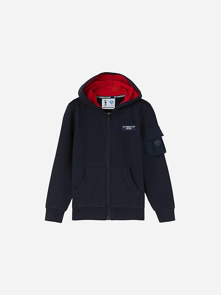 Stretch fleece sweatshirt