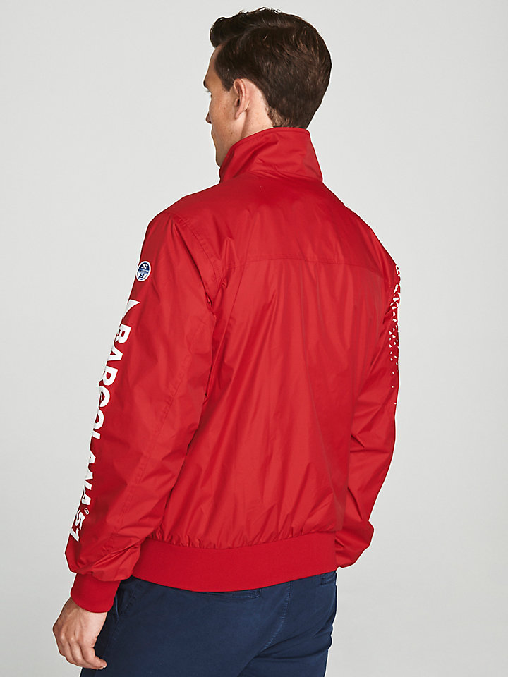 Jacket in recycled nylon