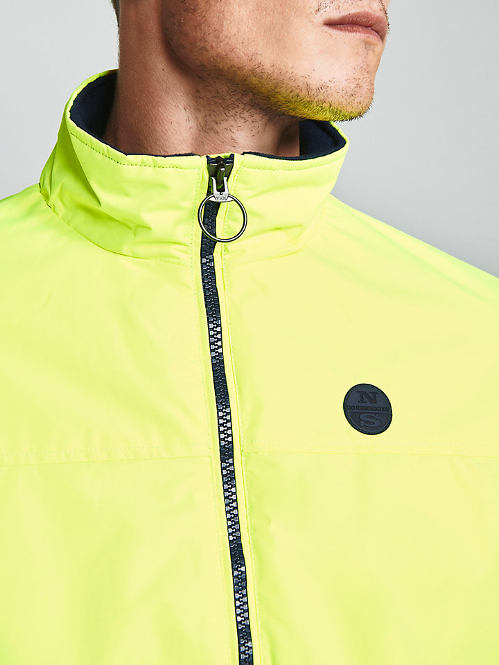 Neon yellow bomber jacket