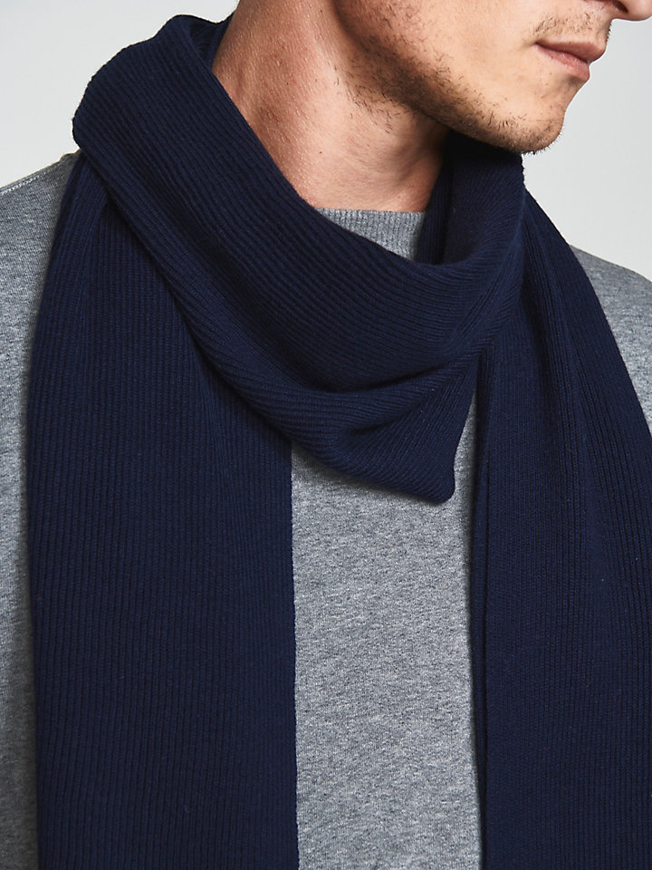 Wool Cotton Blend Scarf