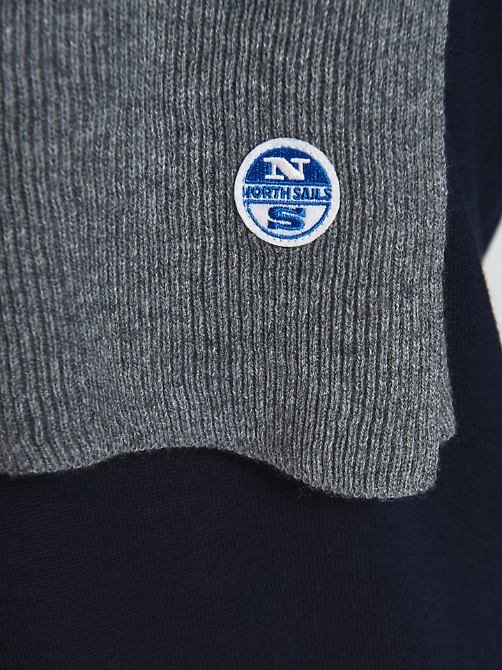 Sjaal van wol-katoenmix