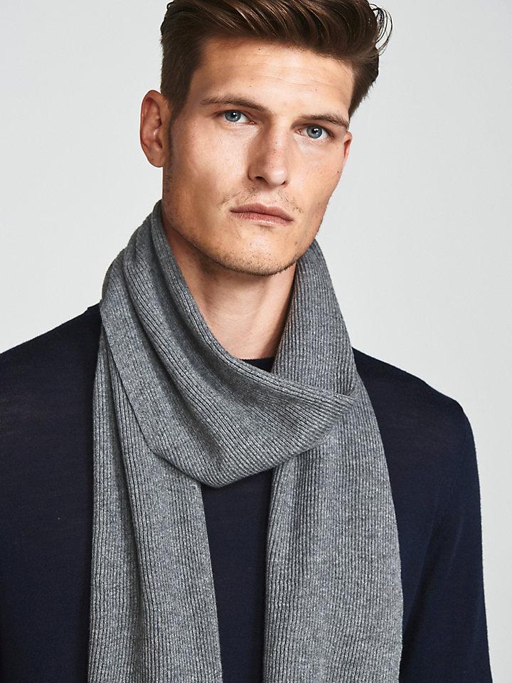 Wool Cotton Blend Scarf