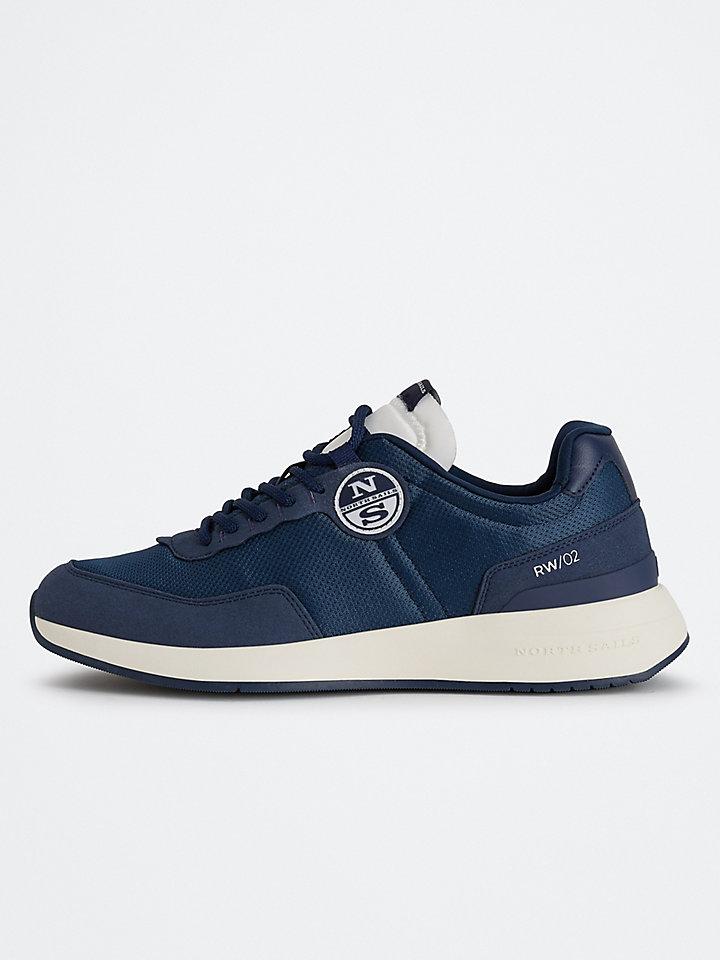 Nylon And Microfiber Sneakers