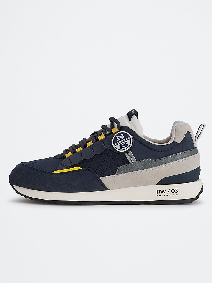Suede And Nylon Sneakers