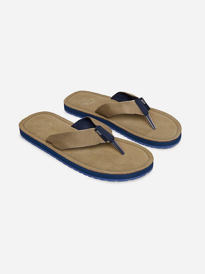 Suede Flip Flops