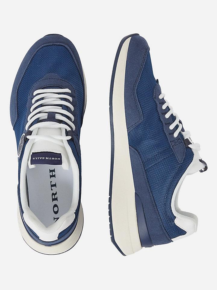 Mesh and microfibre sneakers
