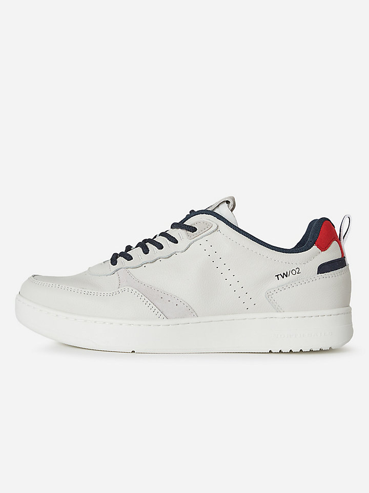 Suede and leather sneakers