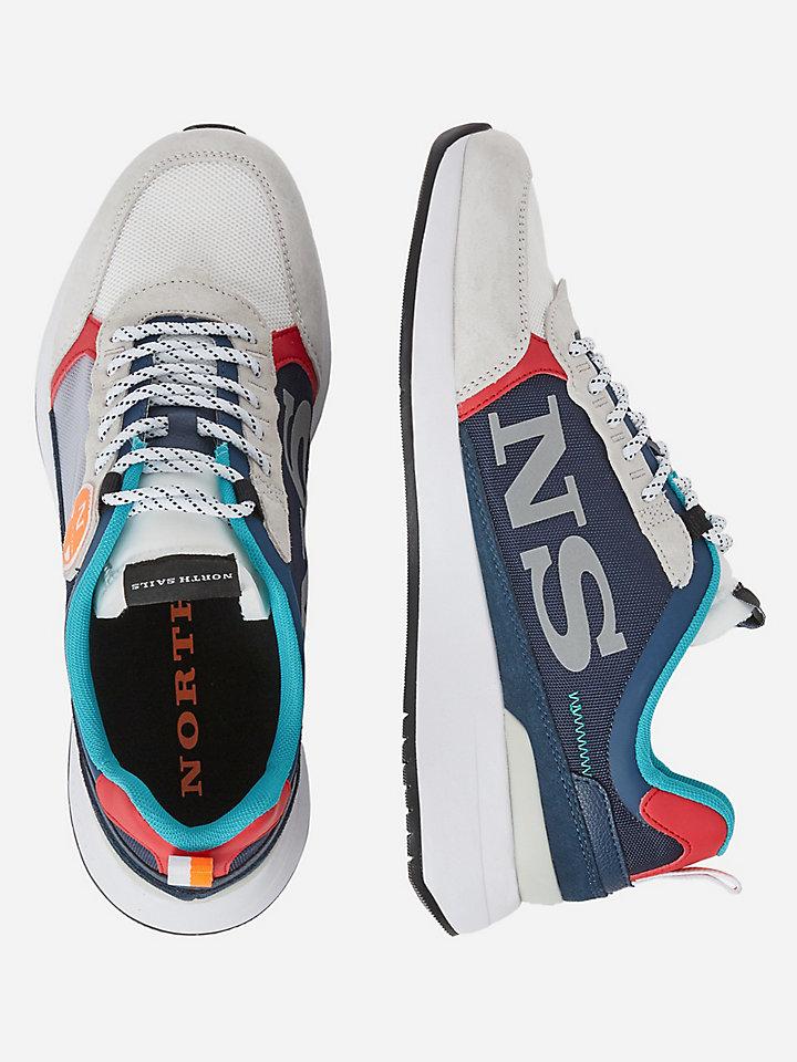 Nylon and micromesh sneakers
