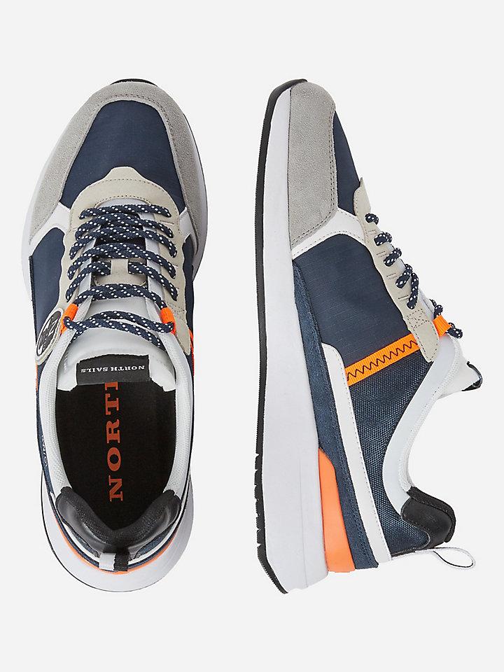 Micromesh and nylon sneakers