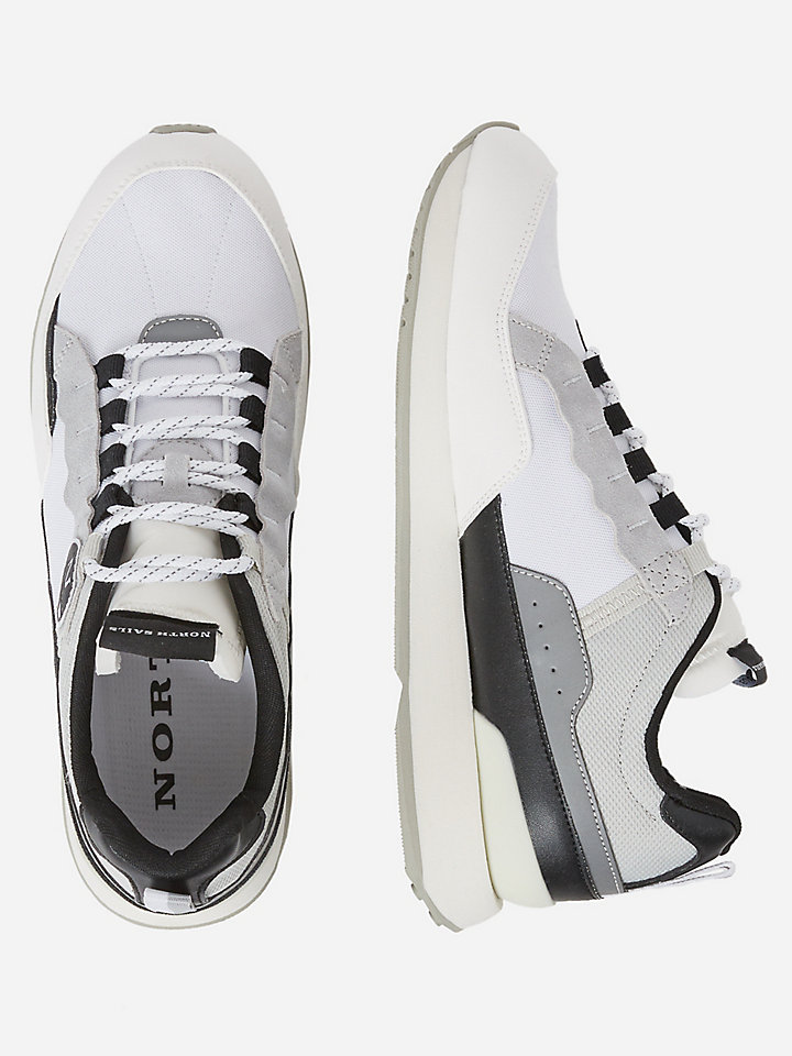 Recycled nylon and mesh sneakers