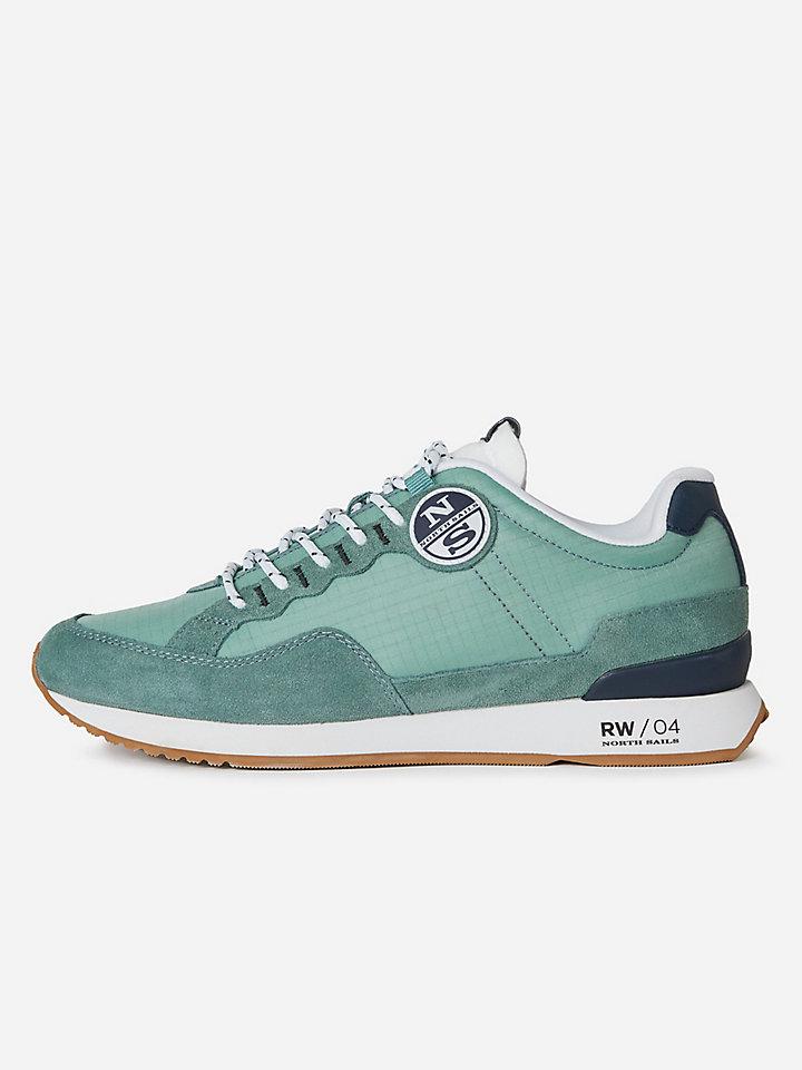 Nylon and microfibre sneakers