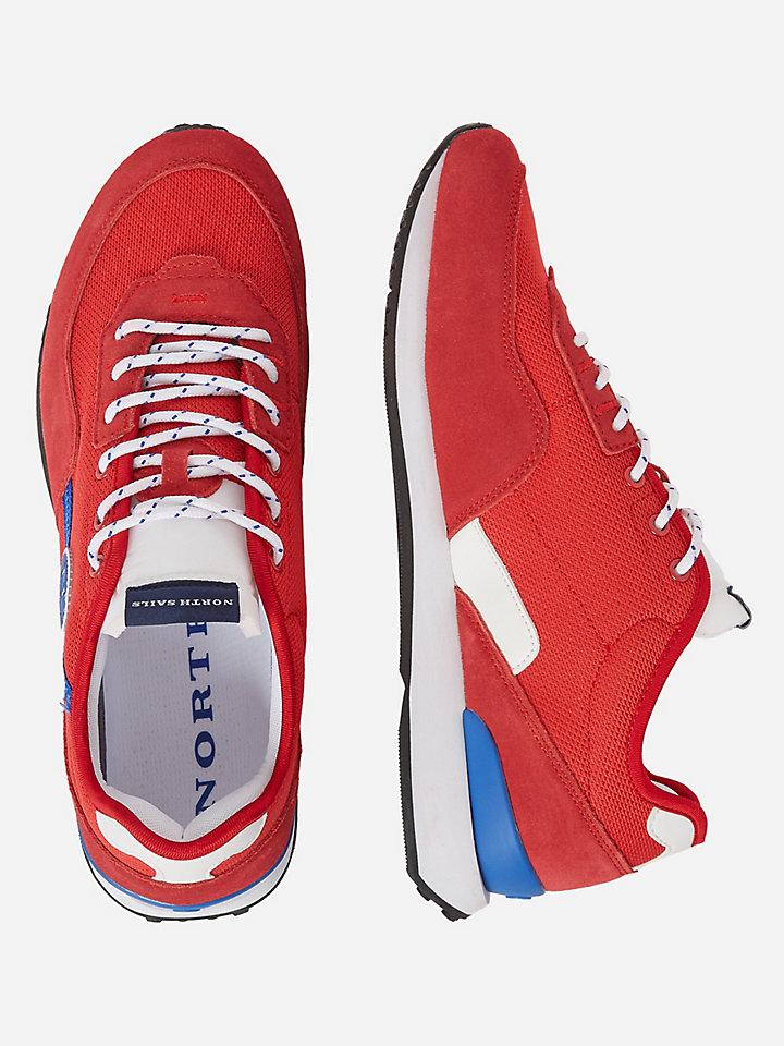 Velours-Mikromesh-Sneakers