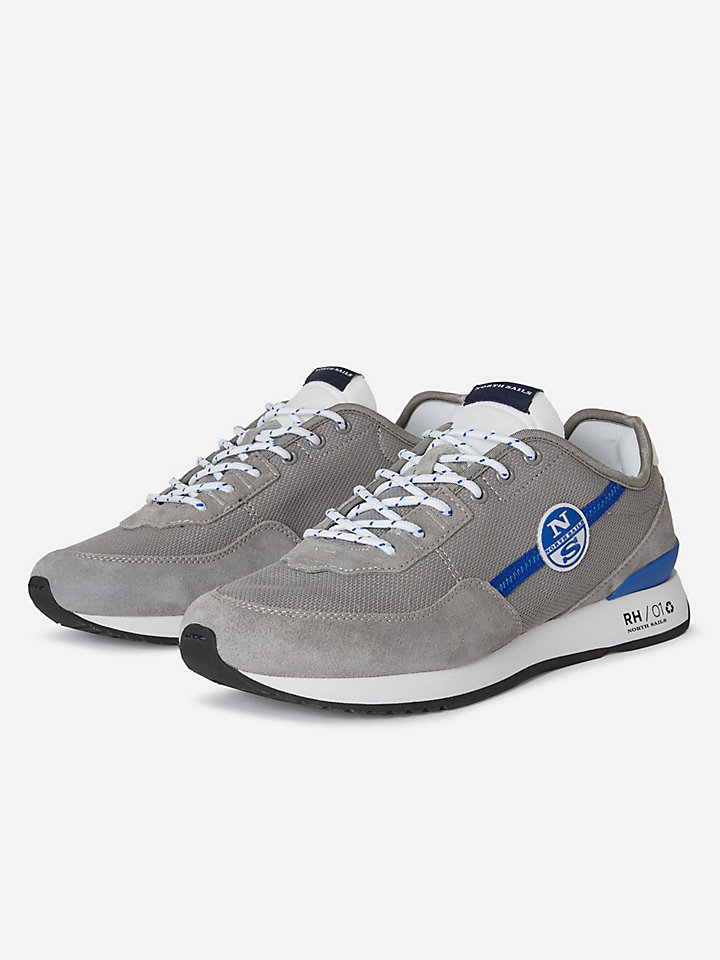 Suede and micromesh sneakers