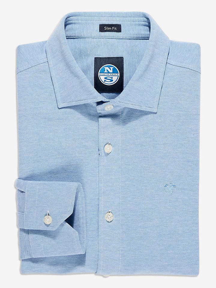 Fine Piquet-Shirt Slim