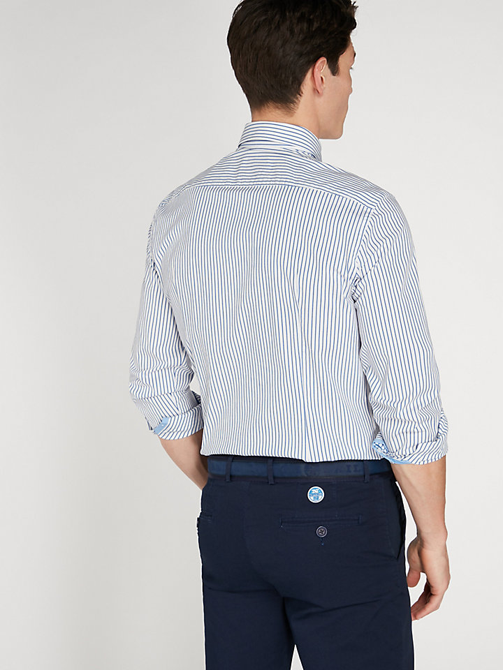 Striped Stretch Shirt Slim