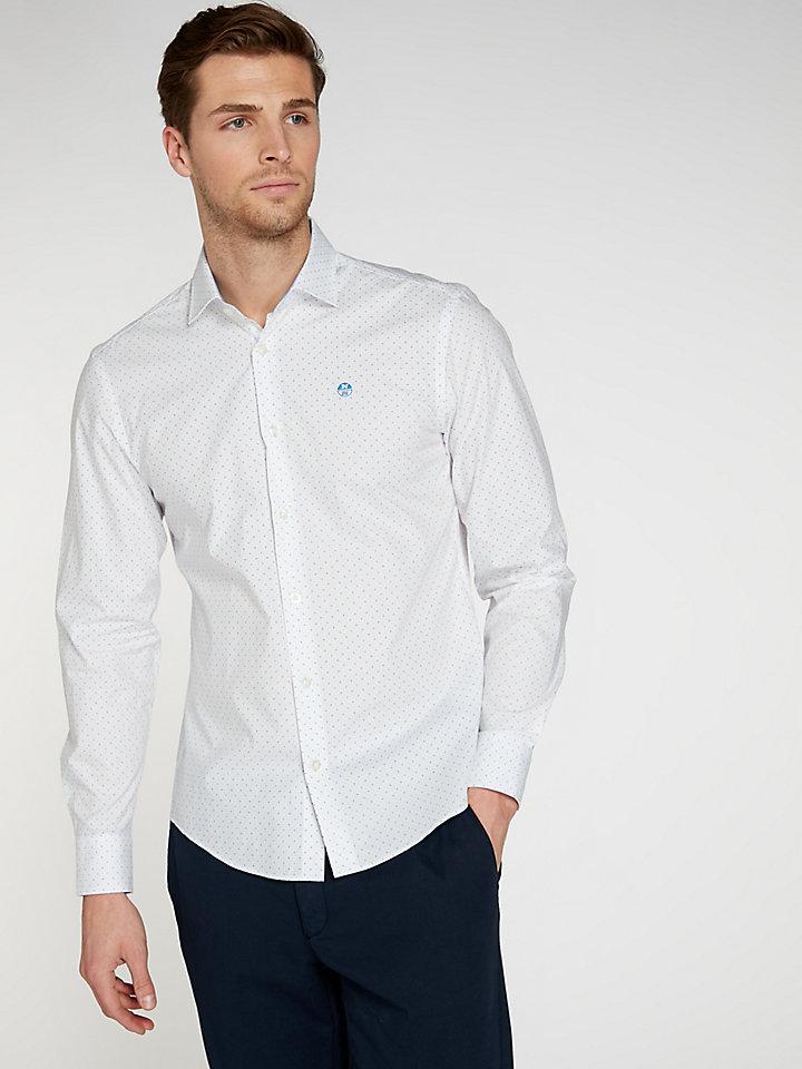 Microprint-Shirt Slim