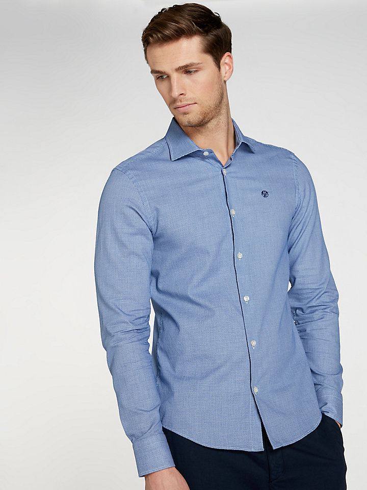 Microprint-Shirt Slim